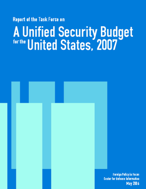 A Unified Security Budget for the United States, 2007