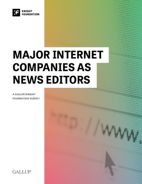 Major Internet Companies as News Editors