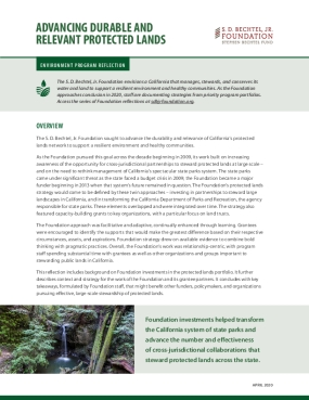 Advancing Durable and Relevant Protected Lands