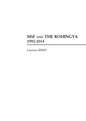 MSF and the Rohingya 1992-2014