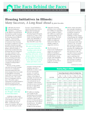 Housing Initiatives in Illinois: Many Successes, A Long Road Ahead